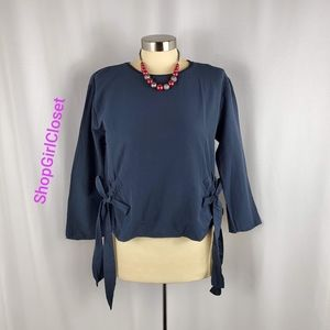 💥Just In💥Zara Collection Navy Blue Top Sz M